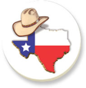 Coasters - Texas & Cowboy Hat TG022